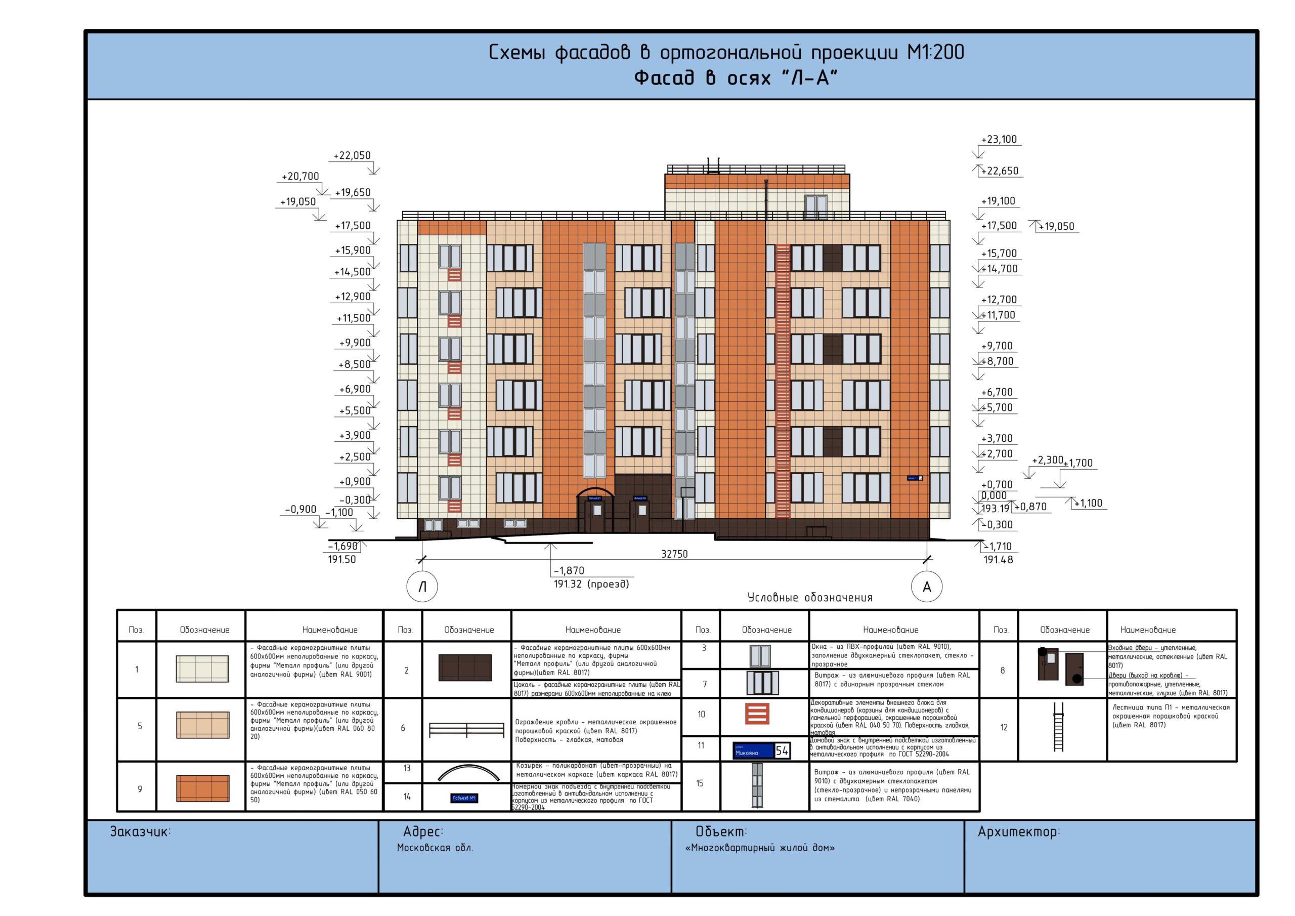 На эскизах и графических материалах описываются колористические решения фасадов.